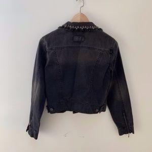 CAbi Jackets & Coats - CAbi embellished  black jean jacket Small